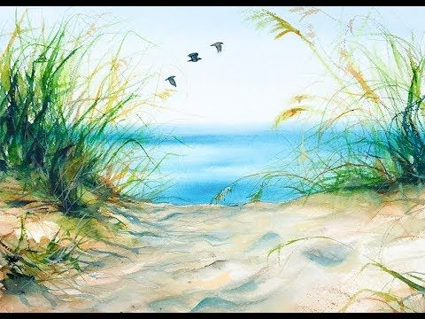 Watercolors Beach Grass Painting Tutorial