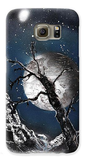 Night Of Wolves Galaxy S6 Case Printed with Fine Art spray painting image Night Of Wolves by Nandor Molnar (When you visit the Shop, change the orientation, background color and image size as you wish)