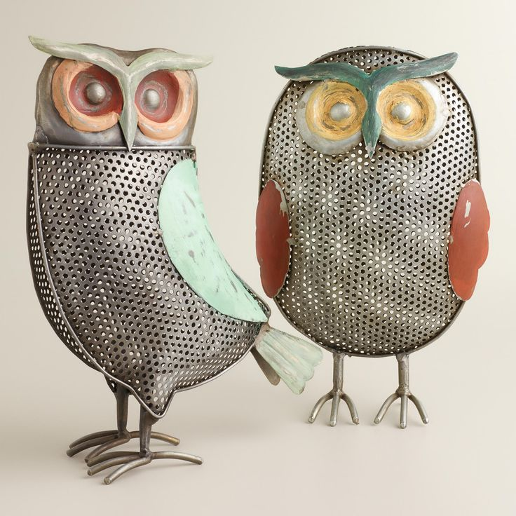 Metal Owl Decor For The Home Pinterest