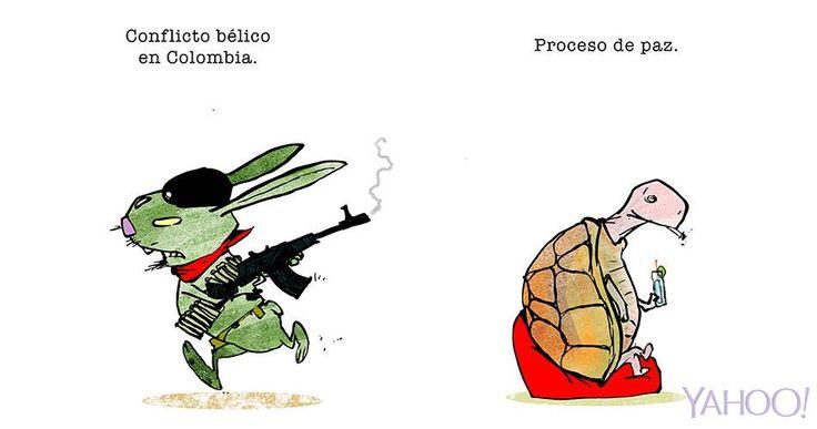 Garrinchatoonz Colombia guerra proceso de paz