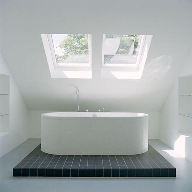 Vrijstaand bad op zolder vrijstaand bad pinterest - Tub onder dak ...