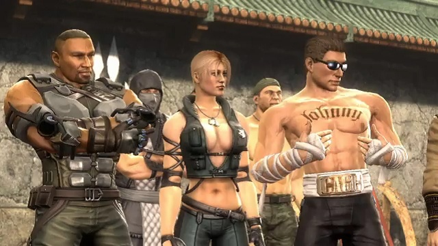 Sonya Blade and Johnny Cage