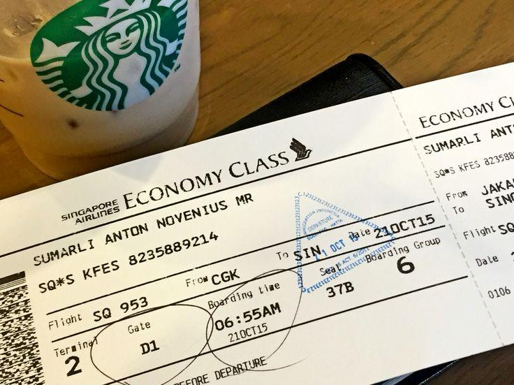 Jakarta - Singapore  SQ 953 / 21 Oct 2015