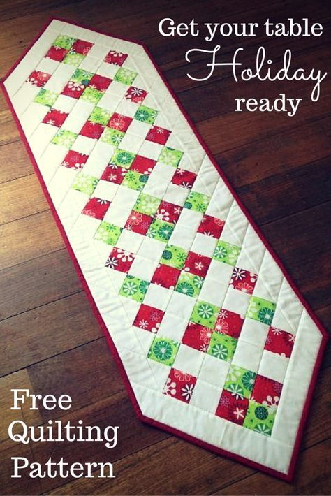 Free Quilt Patterns Table Runners Download : 17 Best ideas about Christmas Table Runners on Pinterest Christmas runner, Quilted table ...