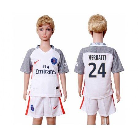PSG Trøje Børn 16-17 #Verratti 24 3 trøje Kort ærmer.199,62KR.shirtshopservice@gmail.com