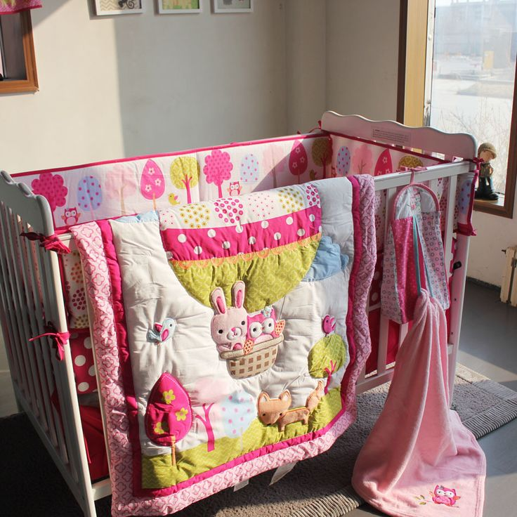 Find More Bedding Sets Information about 2015 New 7 pcs baby bedding set hot air balloon baby crib bedding sets Cot Crib Bedding Set baby bed linen,High Quality sheet software,China skirt button Suppliers, Cheap sheet cover from Love and Warmness on Aliexpress.com