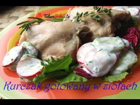 Kurczak gotowany w ziołach