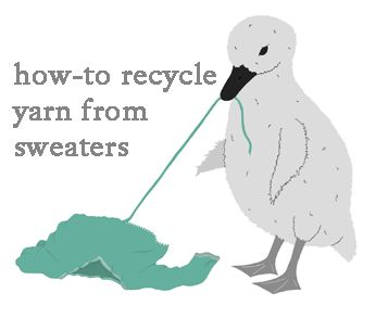 How to recycle yarn from sweaters