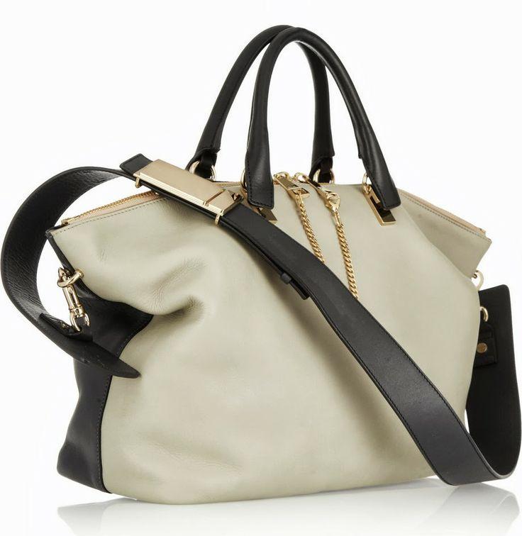 ... nwt lush leather on trend polished black ivory day baylee bag chloe d  chloe saddle messenger bag - Introducing The Chloe Baylee Bag  c71d9be5c48c5