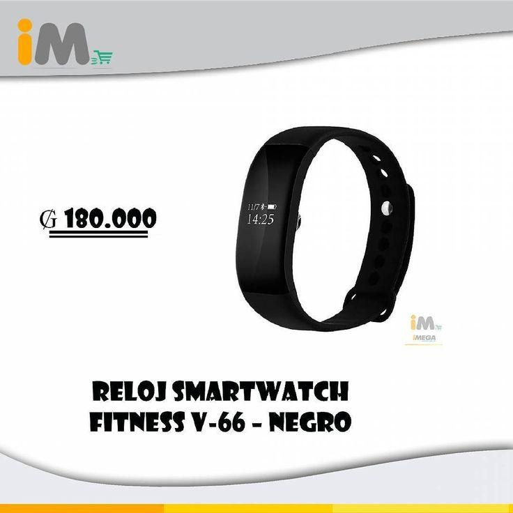 Reloj SmartWatch Fitness V-66  Negro El Smartwatch que siempre has esperado. Múltiples funciones; Medidor de frecuencia cardiaca cuenta pasos atiende enlaces monitoreo de distancia función de alarma monitoreo del oxígeno en la sangre modo de espera monitoreo del sueño monitoreo de calorías gastadas. Se convertirá en tu aliado de confianza del día a día. 180.000 #Reloj #SmartWatch #Fitness #SmartWatchFitness #V66 #Aliado #Medidor #FrecuenciaCardiaca #Alarma #MonitorDeOxigeno #Calorias…