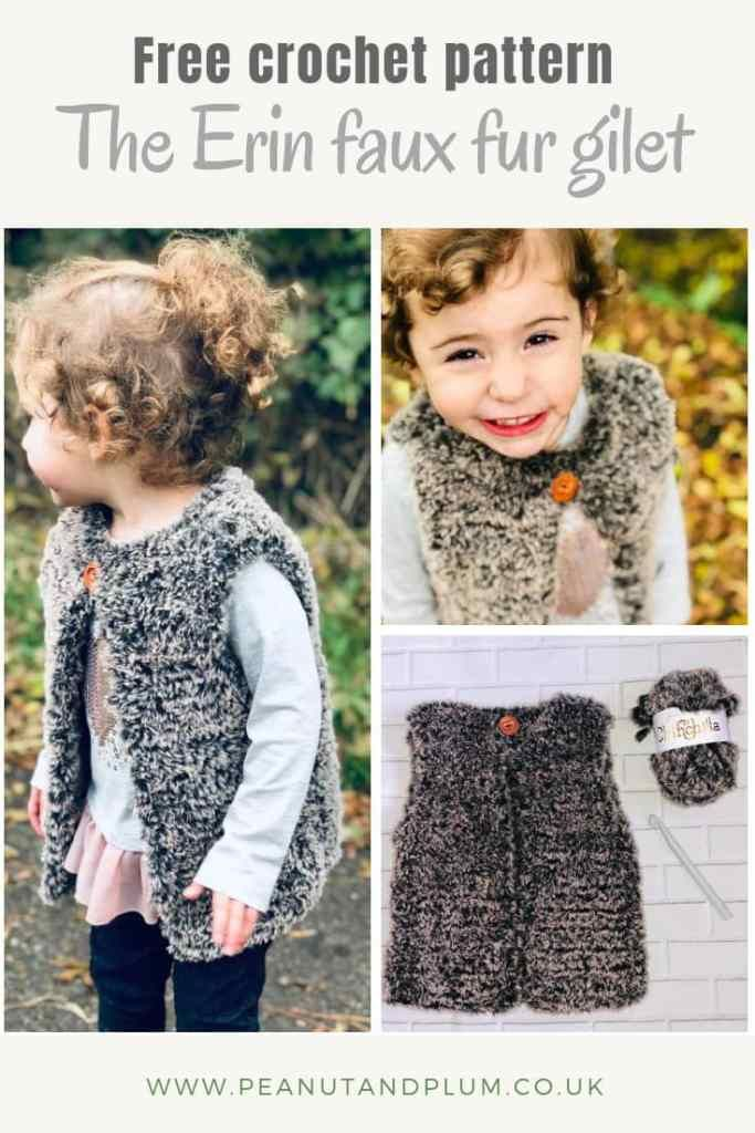 Gilet Free Crochet Pattern The Erin Faux Fur Gilet Crochet