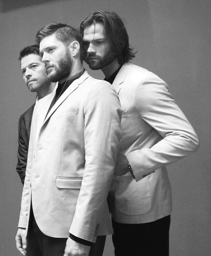 Misha, Jensen and Jared || Supernatural cast | shoot