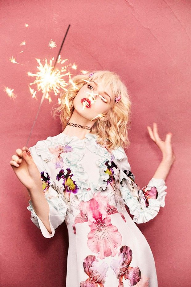 Ola Rudnicka in Francesco Scognamiglio photographed by Ellen von Unwerth for Numero Tokyo, April 2016.