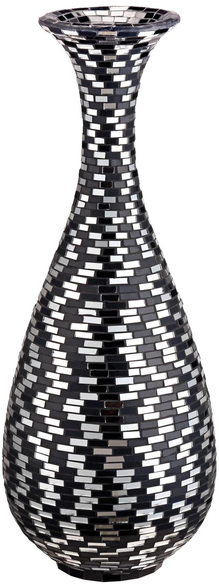 Black and White Mosaic Bubble Vase -