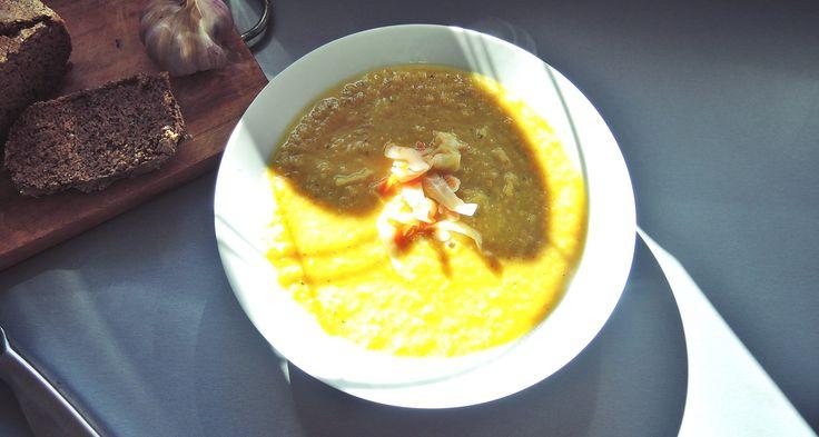 Zupa krem z porów z kiszoną kapustą