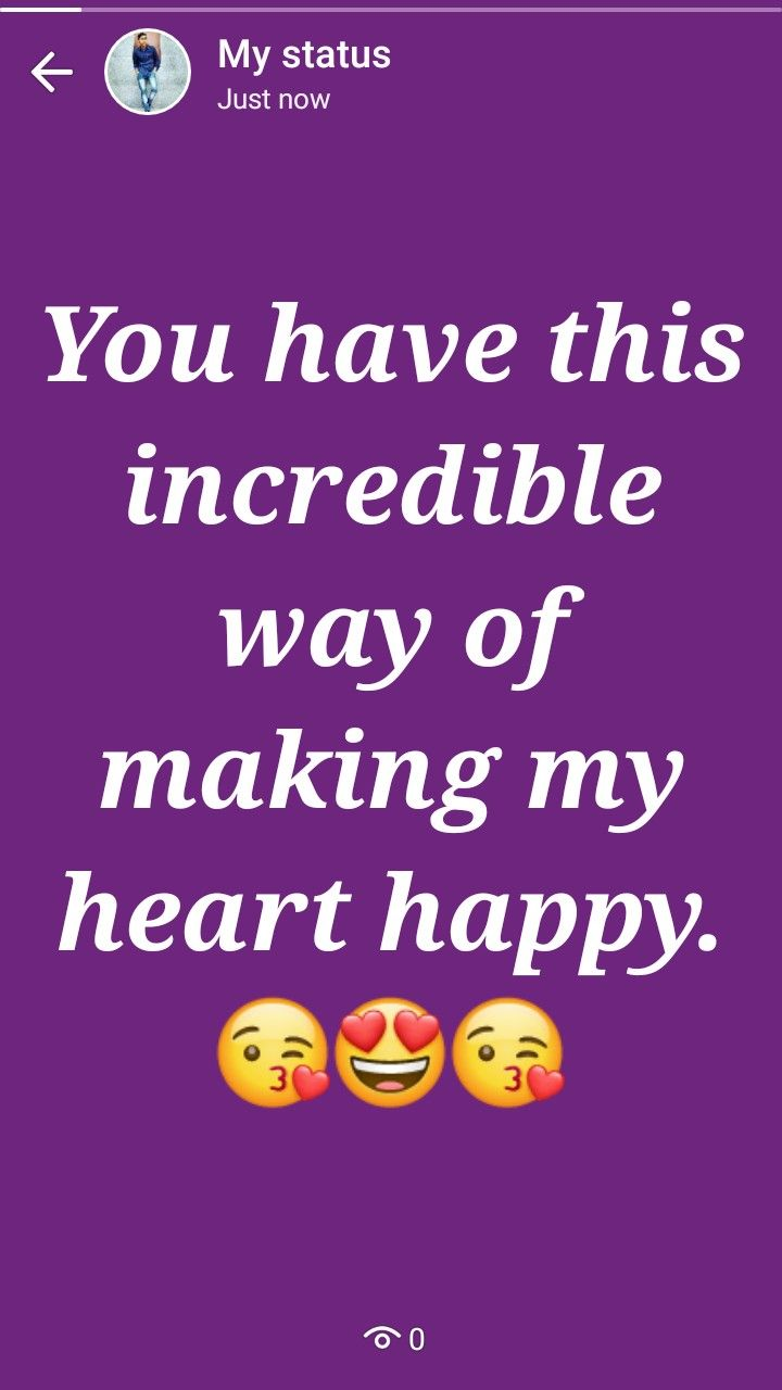 Happy Heart Happy Status Emoji Quotes Whatsapp