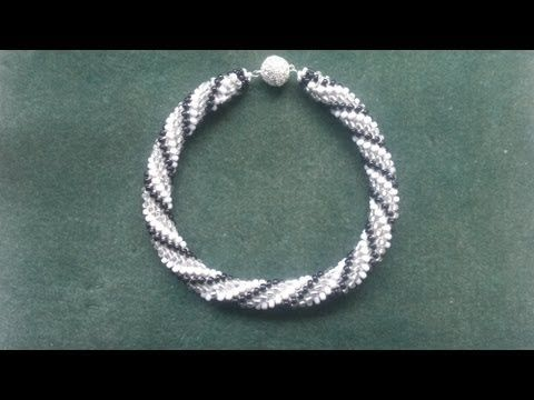 Beading4perfectionists: Crochet part 2 : Some tips and tricks and how to add clasp beading tutorial - YouTube