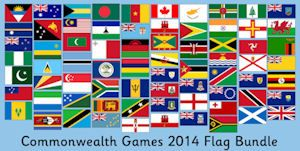 Commonwealth Games 2014 Flags Bundle