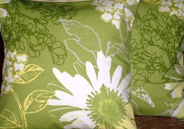 Brighten up anyone of your rooms with these lime green and white scatter floral cushions from Mr Price Home.