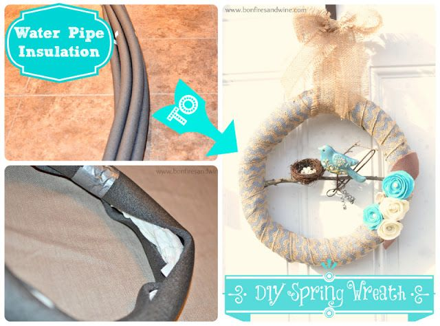 Pinterest Party Spring Wreath