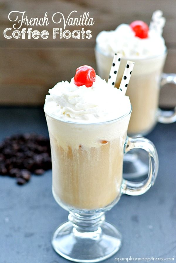 French Vanilla Coffee Floats
