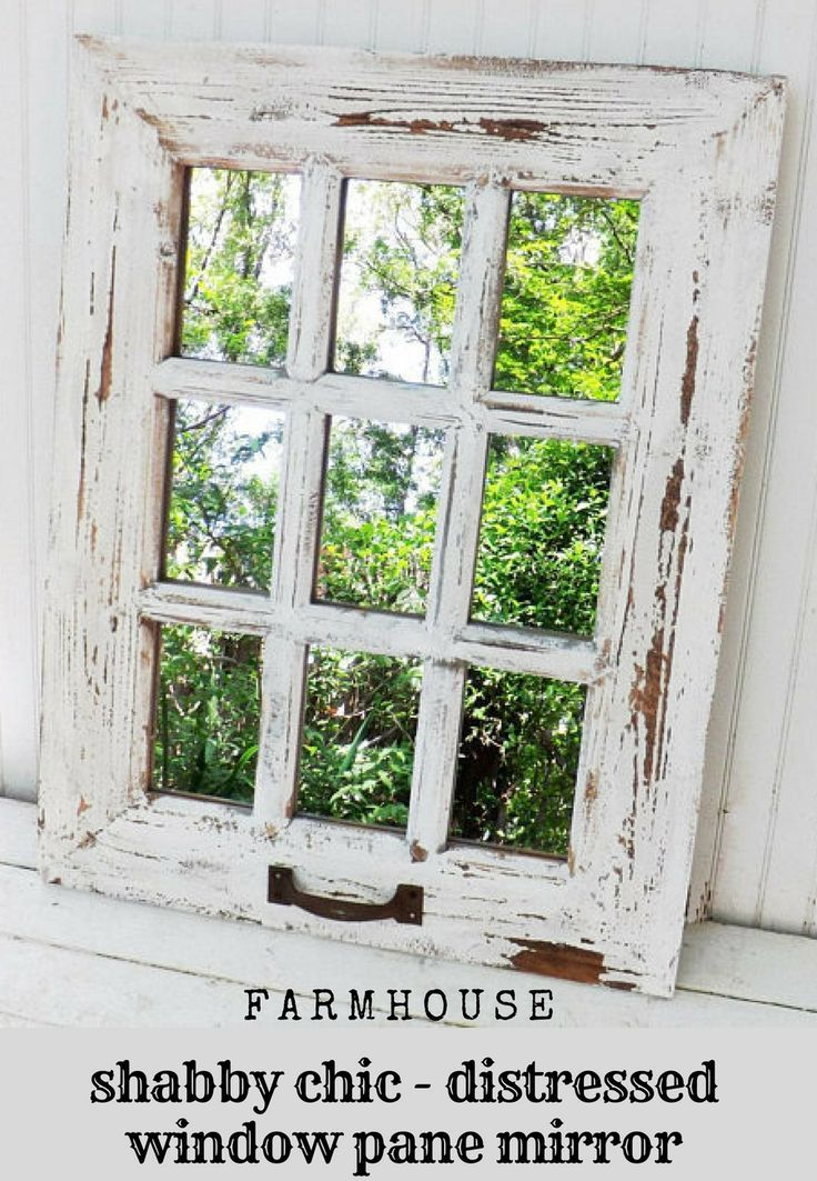 Great Farmhouse Look Rustic Window Pane Mirror Farmhousedecor Farmhouse Rusticdecor Homedecor Mir Shabby Chic Mirror Farmhouse Mirrors Window Pane Mirror