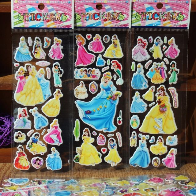 25PCS Princess Foam Sticker Kids Happy Birthday Party Supply Baby Shower  Party Favor Return Gift Souvenirs