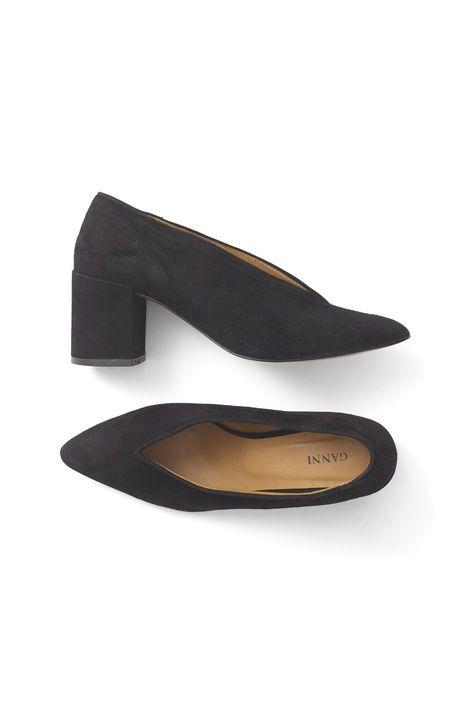 Ganni Festive | Veda Suede Shoes, Black