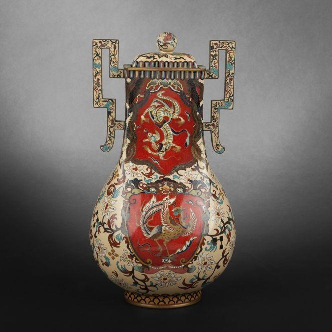 Cloisonné enamel vase, Japan, 19th Century