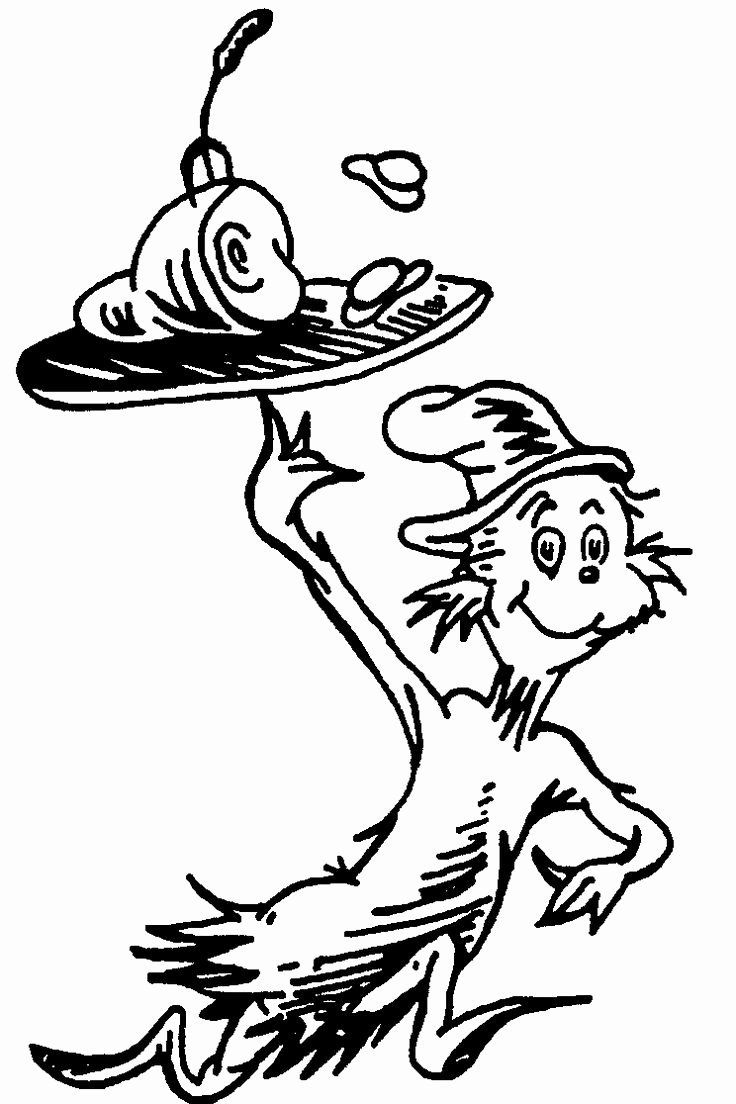 The Cat In The Hat Coloring Pages Printable New Cat In The Hat Hat Coloring Pageskidsfreecolori Dr Seuss Coloring Pages Dr Seuss Coloring Sheet Dr Seuss Crafts