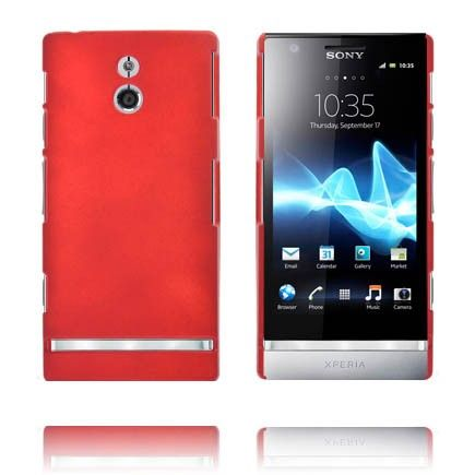 Hard Shell (Tummanpunainen) Sony Xperia P Suojakuori