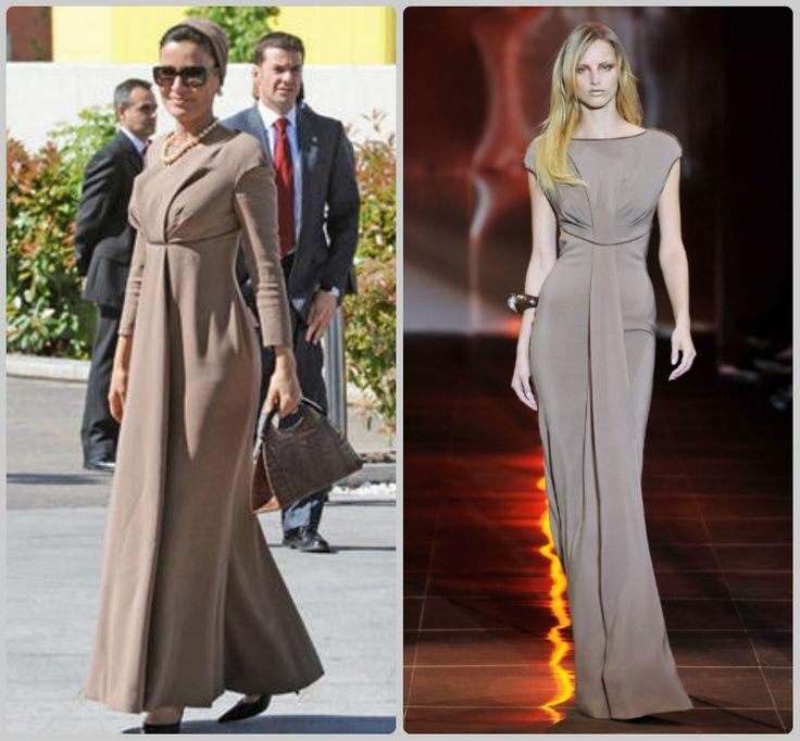 Sheikha Mozah bint Nasser Al Missned #Charismatic #Fashionista Giorgio Armani Prive Couture  Autumn/Winter 2010-11