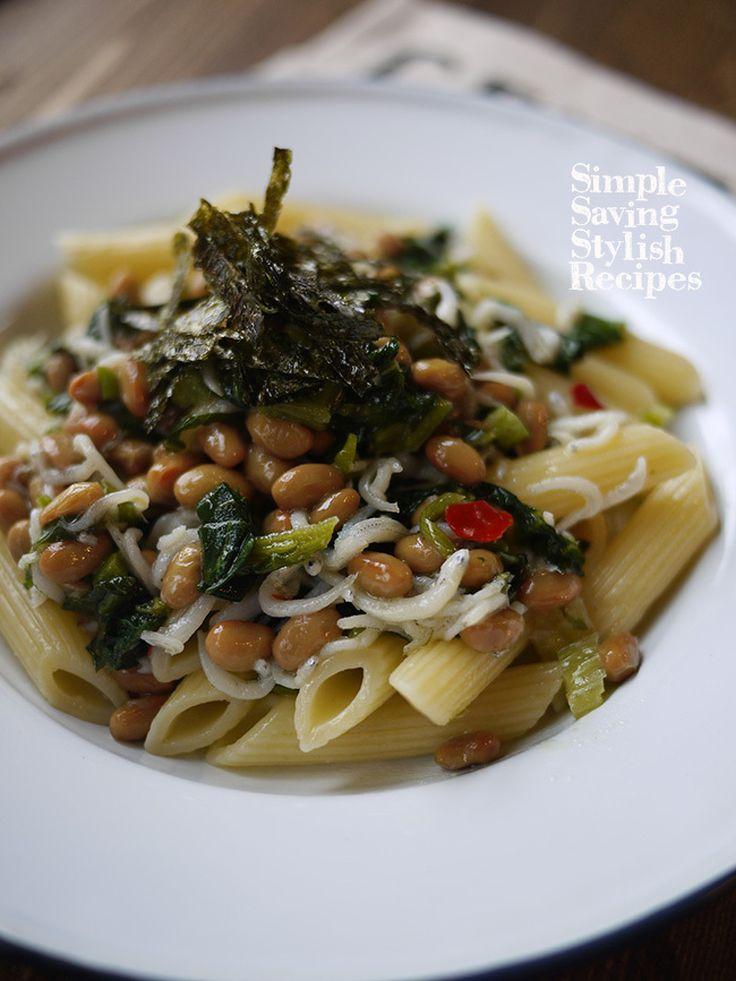 味付け不要♪高菜と納豆とシラスのパスタ by SHIMA / お漬け物利用で味付け不要な簡単パスタ♪冷蔵庫にある物を活かしたレシピです納豆好きにはたまりません♪ / Nadia