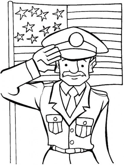 A veterans salute to the veterans coloring page | Download Free A veterans salute to the veterans coloring page for kids | Best Coloring Pages