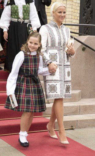 Princess Ingrid Alexandra today at the goverment buildin in Oslo, Norway to celebrate the 200th anniversay of the Norwegian constitution, which is on Saturday, 17th of May 2014