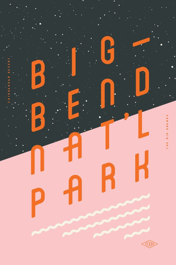 Type Hike typographic posters that celebrate American