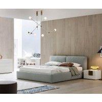 Designer Polsterbett Brick von Novamobili aus Italien mit Bettkasten Das moderne und bequeme Bett gibt es in 2 verschieden Größen.
