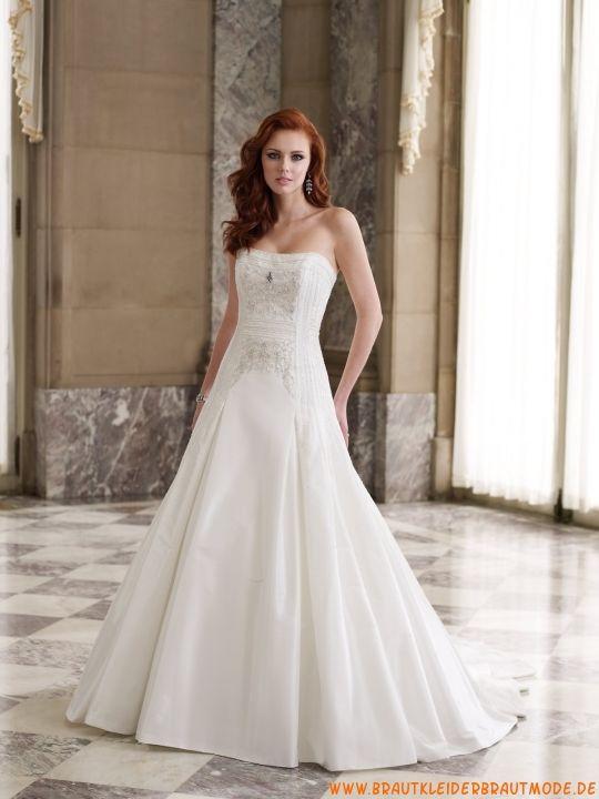 2013 Neuer Stil schöne Brautkleider aus Satin A-Linie für ...