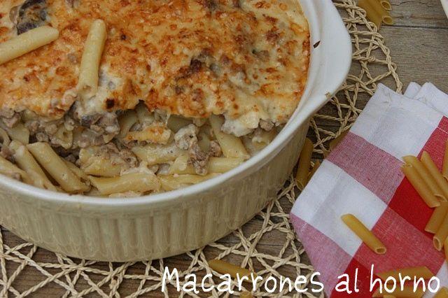 Atrapada en mi cocina: MACARRONES AL HORNO (PENNE AL FORNO)