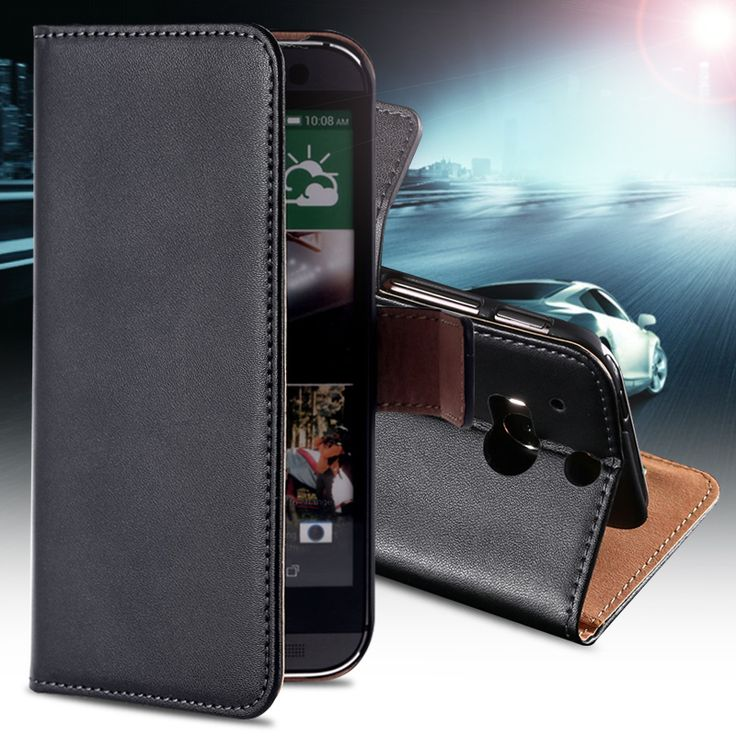 Top Quality Genuine Leather Case For HTC One M8 Mobile Phone Bag Wallet Stand With Card Holder Cover For HTC One M 8