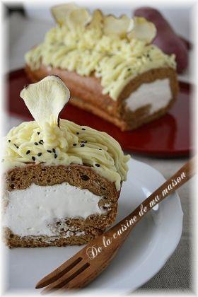 「黒糖風味の芋んブランロール」maya | お菓子・パンのレシピや作り方【corecle*コレクル】