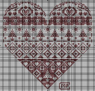 Grilles Cœur , Grille broderie gratuite à télécharger: Stitches Heart, Embroidery Crosses Stitches, Stitches Angel, Photo, Watches, Secret Crosses