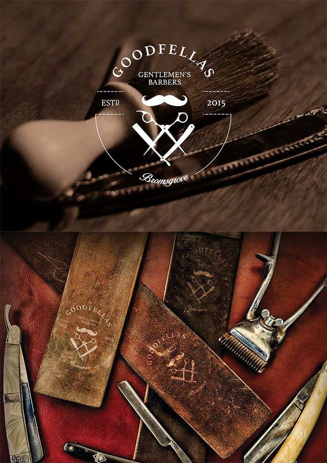 GoodFella's Gentlemens Barbers Branding by Sam Barnes
