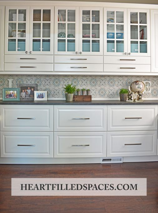 Built In Home Office Design Using Ikea Sektion Cabinets Heart
