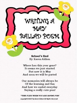 Use this activity to teach writing a ballad poem or to review ballads.  This is also a great activity to use with teaching biographies and have students write a ballad about the person they researched and read about. This includes a lesson plan, example of a biography ballad, and a final draft paper for their finished poems.