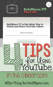 Love the resources in YouTube but worried about using it in the classroom? Check out these great tips from Tech with Jen.