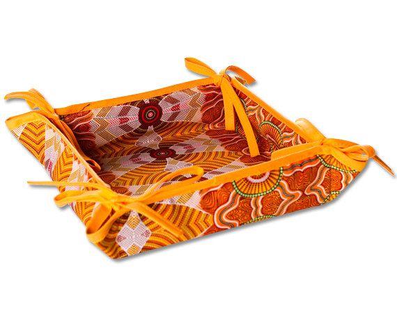 Australian Aboriginal Art Magic Basket by AboriginalOzArt on Etsy