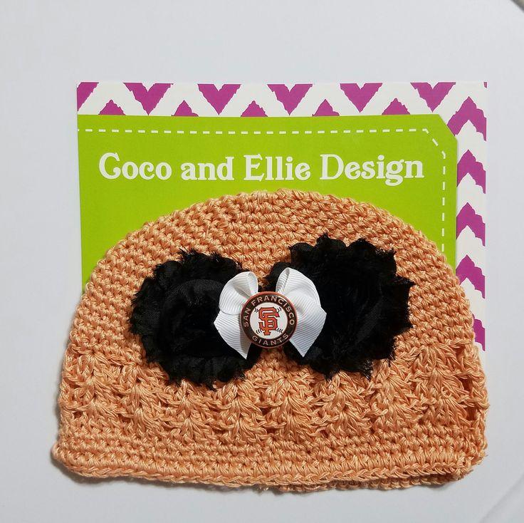 Mlb San francisco Giants knit hat-san francisco giants baby-sf giants hat for baby-sf giants hat-sf giants for baby-sf giants baby gift by CocoandEllieDesign on Etsy