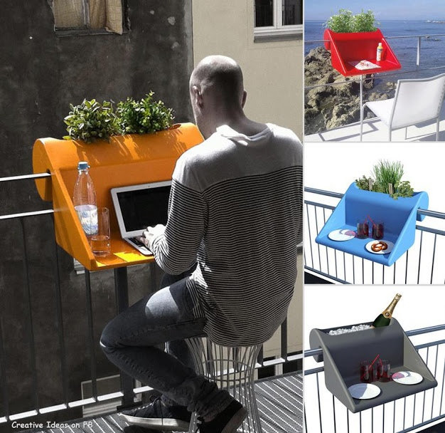 Smart idea for small balcony and appartment.. http://plus.google.com/u/0/112118861354873908587/posts/RhXfo44c5eE
