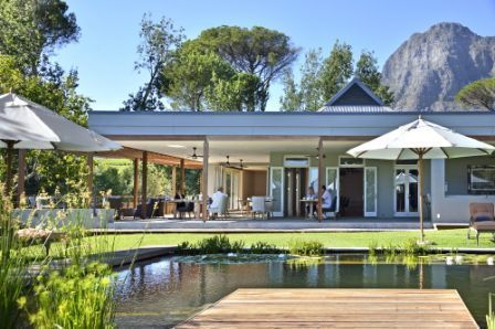 The gorgeous Angala Boutique Hotel is a wonderful place to stay, just outside Franschhoek, Cape Winelands, South Africa
